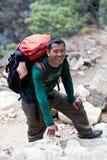 Guía del senderismo de Sherpa Fotos de archivo libres de regalías