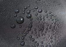 A água preta real deixa cair a textura Imagem de Stock