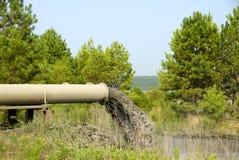 Água Waste industrial Fotos de Stock Royalty Free