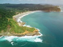 Guacalito beach aerial view Royalty Free Stock Images