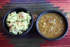 Guacamole και σάλτσα Verde Στοκ Εικόνα