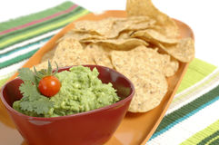 Guacamole abd Chips Stock Photo
