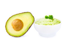 Guacamole and avocado Stock Image