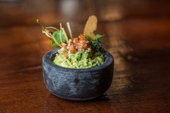 Guacamole Avocado Bowl royalty free stock photo