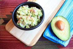 Guacamole and Avocado Royalty Free Stock Photography