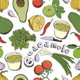 Guacamole background Stock Photos