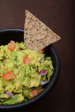 Guacamole and bean chip Royalty Free Stock Photography