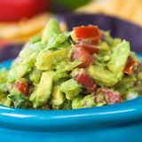 Guacamole Bowl Closeup Stock Photos