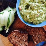 Guacamole with bread Stock Image
