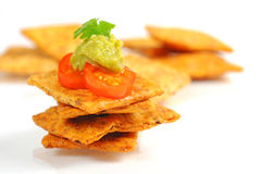 Guacamole and Chips Royalty Free Stock Images