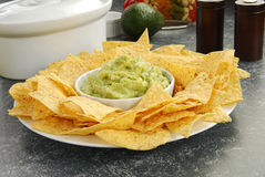 Guacamole and chips Stock Image