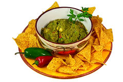 Guacamole and Chips Stock Photography