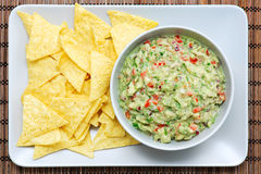 Guacamole and Chips Royalty Free Stock Photography