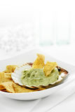 Guacamole and Chips Royalty Free Stock Photos