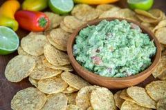 Guacamole Chips Royalty Free Stock Photos