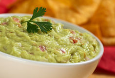 Guacamole with Cilantro Leaf Royalty Free Stock Images