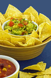 Guacamole com microplaquetas de tortilla Fotografia de Stock Royalty Free