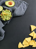 Guacamole dip. Delicious guacamole dip on the table stock photo