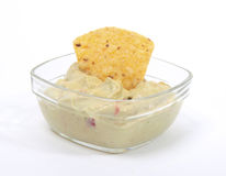 Guacamole dip with nacho Royalty Free Stock Image