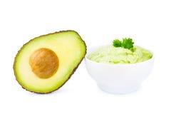 Guacamole en avocado Stock Afbeelding