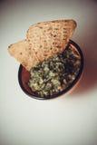 Guacamole et nachos photos stock