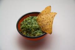 Guacamole et nachos photo stock