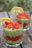 Guacamole in glasses Stock Photography