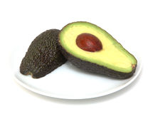 Guacamole Halved royalty free stock photography
