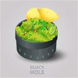 Guacamole ilustracja Zdjęcia Royalty Free
