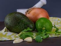 Guacamole Ingredients on Napkin Stock Photo