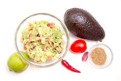 Guacamole and ingredients from Stock Image