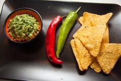 Guacamole mexicano foto de archivo