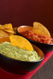 Guacamole with Nacho Stock Photos