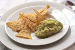 guacamole nachos Obrazy Stock