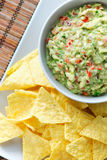 Guacamole and nachos Royalty Free Stock Photo