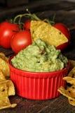 Guacamole with nachos Stock Image