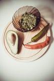 Guacamole picante Fotografía de archivo libre de regalías