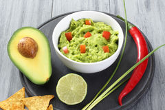 Guacamole salad with avocado Royalty Free Stock Images