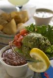 Guacamole with salsa Royalty Free Stock Photos
