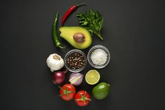Guacamole sauce with avocado Royalty Free Stock Photo
