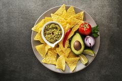 Guacamole sauce Stock Images