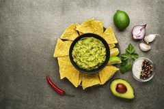 Guacamole sauce Royalty Free Stock Images