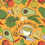 Guacamole seamless pattern Stock Images