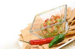Guacamole snack Stock Image