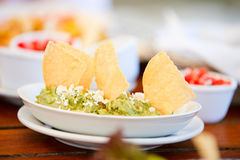 Guacamole and tortilla chips Royalty Free Stock Photography