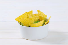 Guacamole with tortilla chips Stock Photos