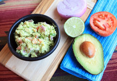 Guacamole and Vegetables Royalty Free Stock Photos