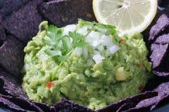 Guacamole verde Fotografia Stock