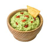 Guacamole  on White Background Royalty Free Stock Image
