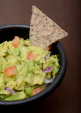 Guacamole and whole grain chip Royalty Free Stock Images